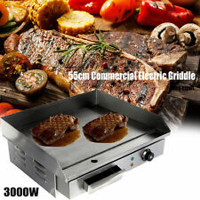 "55cm/21.6"" 3000 W BBQ Plancha électrique Plaque à snacker Barbecue de table BBQ"