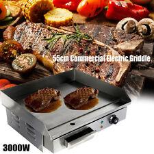 3000W 55cm Elektro Grillplatte Griddleplatte BräTer Bratplatte Griddle Profi