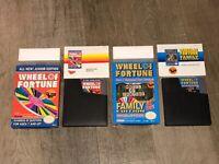 Wheel of Fortune Family & Junior Nintendo Nes Complete CIB Authentic 2 Game Lot