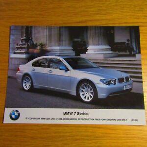 "BMW E65 7 Series Silver UK English 8x6"" Press Brochure Media Photo Jan 2002"