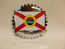 USA STATE CAR GRILLE  BADGE - FLORIDA (FLAG)