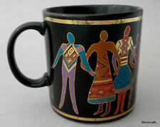 Laurel Burch Mug Familia de Mundo Japan 1988 World Family Colorful Stylized Folk