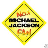 No.1 Michael Jackson Fan Car/Door/Window Hanger/Sign