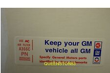 1977-1979 Trans Am Air Cleaner Decal Keep Your GM Car All Gm Oldsmobile 403