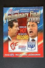 2000 Melbourne vs Kangaroos 2nd preliminary final football record footy