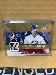 U7 2008-09 UD Game-Used Patch Pascal Leclaire /15 Columbus Blue Jackets