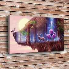 Mystical Wildlife Home Decor Room HD Canvas Print Picture Wall Art Painting