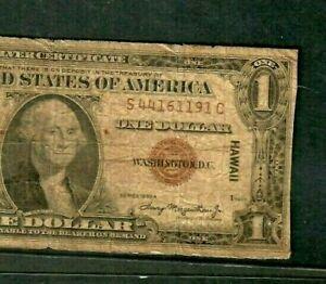"""$1 """"HAWAII"""" (WORLD WAR 2 NOTE) 1935-A  $1  (BROWN SEAL) """"HAWAII"""" RARE!!! 1935-A"""