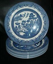 Churchill Blue Willow 10.25 Dinner Plates England NEW