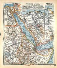 Nord-est de l'Afrique canal de Suez Delta du Nil  1: 15 000 000 MAP CARTE 1938