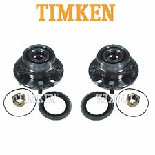 For Buick Cadillac Pair Set of 2 Front Wheel Bearings & Hub Assemblies Timken