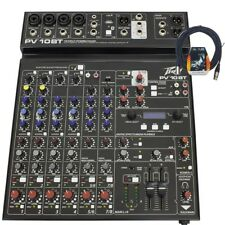 Peavey PV 10 BT Bluetooth Analog Live Sound Recording Playback Mixer +FREE Cable