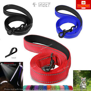 4FT NEW Dog Leash Rope Braided Pet Leads Strong Soft for Small Medium Large Dogs