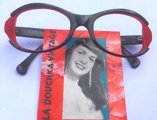 ALAIN MIKLI 1980s WOMEN EYEWEAR FRAME~ BLACK & RED FRAME ~DESIGNED IN FRANCE~NEW