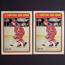 SERGEI FEDOROV (2) Rookie 1990-91 O-Pee-Chee Red Army #19R Detroit Red Wings  RC
