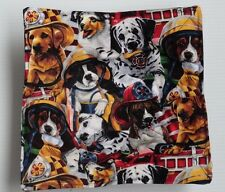Dalmation's dogs dressed as firemen  microwave hot bowl holder FREE US SHIPPING