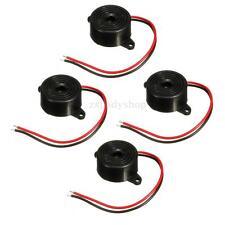 4X Piezo Electronic Tone Buzzer 95 DB Alarm With Mounting Holes  3-24V 12V DC