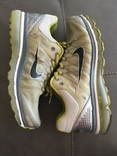 NIKE AIR MAX 2009 GREY VOLT GREEN OLIVE SILVER SIZE 11 USED RARE
