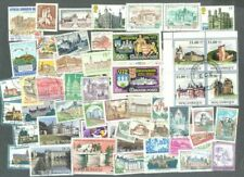 Castles/Chateaux-100 all different stamp collection