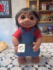 "GIANT LIVVY STYLED GIRL w/ TAG - 17"" Dam Troll Doll - NEW IN ORIGINAL BAG"