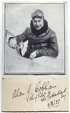 Sir Alan Cobham British Aviation Pioneer Record Holder Autograph ''Rare''