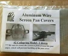 Aluminum Wire Screen Pan Covers Cover Trap Traps Trapping Screens #2 5 dozen