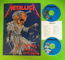 BOOK LIBRO+2 CD METALLICA Damaged justice tour '88-89 con foto a colori (LM3)