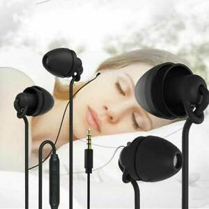 Silicon Wired Sleep Earphone In-Ear Earbuds Stereo Bass Headset Headphone 3.5MM*