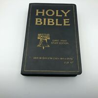 1976 Holy Bible Giant Print Study Ed Old + New KJV Vintage Jerry Falwell Vtg  B7