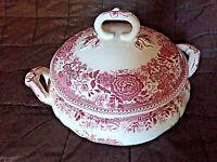 Ancienne soupière vieux rose-faïence -Villeroy&Boch-Burgenland-art de la table