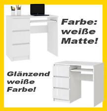 Schreibtisch Weiß Bürotisch Computertisch mit Schubladen Arbeitstisch