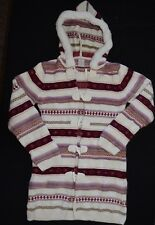 Gymboree Autumn Highlands Long Sweater Size 12 Striped Red Burgundy Green Cream