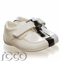 Childrens Baby Boys Cream Shoes Wedding Page Boy Christening Kids Shoes