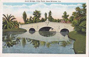 Arch Bridge City Park NEW ORLEANS Louisiana 1915-30 C.B. Mason Postcard 130