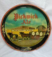 "Vintage Haffenreffer & Co Inc. Brewing Pickwick Ale 12"" Beer Tray Boston MARare"