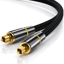 CSL Toslink Kabel (optisch/ digital) HQ Toslink Audio Kabel vergoldet 2,0m NEU