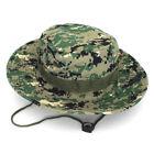 Men's Women's Brim Camo Sun Bucket Hat Unisex Fishing Boonie Safari Camping Caps