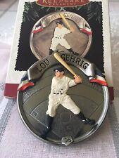 Vintage Hallmark Keepsake Ornament Baseball Heroes LOU GEHRIG Yankees 1995 NIB!