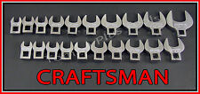 CRAFTSMAN 20pc LOT FULL POLISH SAE METRIC MM Crowfoot Crowsfoot Wrench set