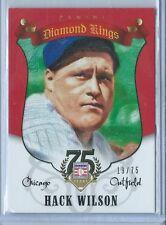 2014 Panini Hall of Fame Hack Wilson Diamond Kings RED #50 19/75 HOF (Dinged)