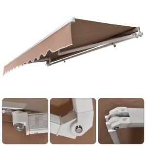 Cocoarm Retractable Awning Manual Clamp Awning Balcony Hand Crank Telescopic Canopy Height Adjustable Window Canopy with Crank Handle for Outdoor Garden Patio Balcony,Restaurant