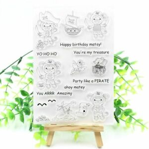 Pirate Monkey Transparent Stamps For DIY Scrapbooking Card Making Fun Decoration