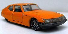 CITROEN SM 1970-1975 orange SIKU 1026 1:55 Chassis schwarz gefedert Sitze türkis