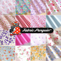 16 x Fabric Patchwork LARGE Remnants Pack Bundle Polycotton Offcuts Craft Charm