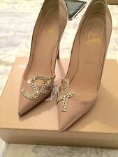 SALE!!!Gorgeous Christian Louboutin S. E. and X. Pigalle Beige 38.5 Seen On JLo