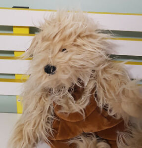 BOYLE TEDDY BEAR PLUSH TOY IN OVERALLS! CUTE SOFT TOY ABOUT 35CM LONG KIDS TOY!