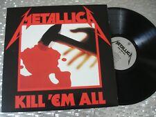 "Metallica  ""Kill 'Em All"" Half Speed Mastered LP Warner Bros./Blackened 343612"