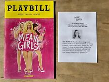 MEAN GIRLS Broadway Preview Playbill + TEE BOYICH as Janis Insert! March 2018!