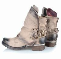 Retro Fashion Shoes Womens Western Buckle Round Toe Ankle Cowboy Punk Boots