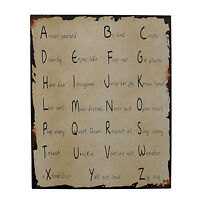 """Metal Antique Wisdom Sign Wall Décor  """"Amaze Yourself Be Kind Create"""""""